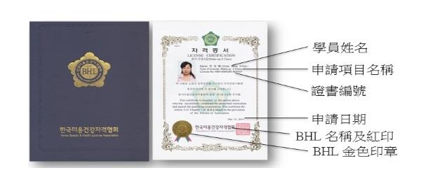 IBHGU BHL Korea Beauty and Health License Association Certificate