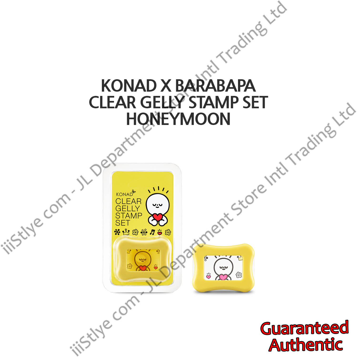 konadXbarabapa clear gelly stamp set honeymoon