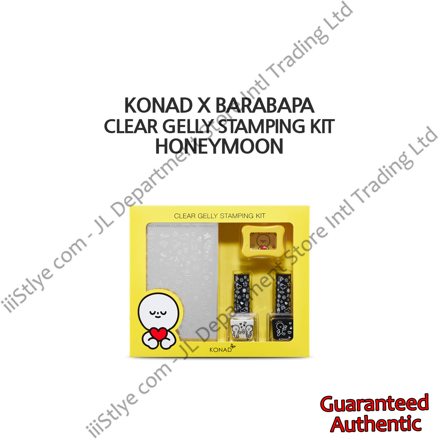 konadXbarabapa clear gelly stamping kit honeymoon