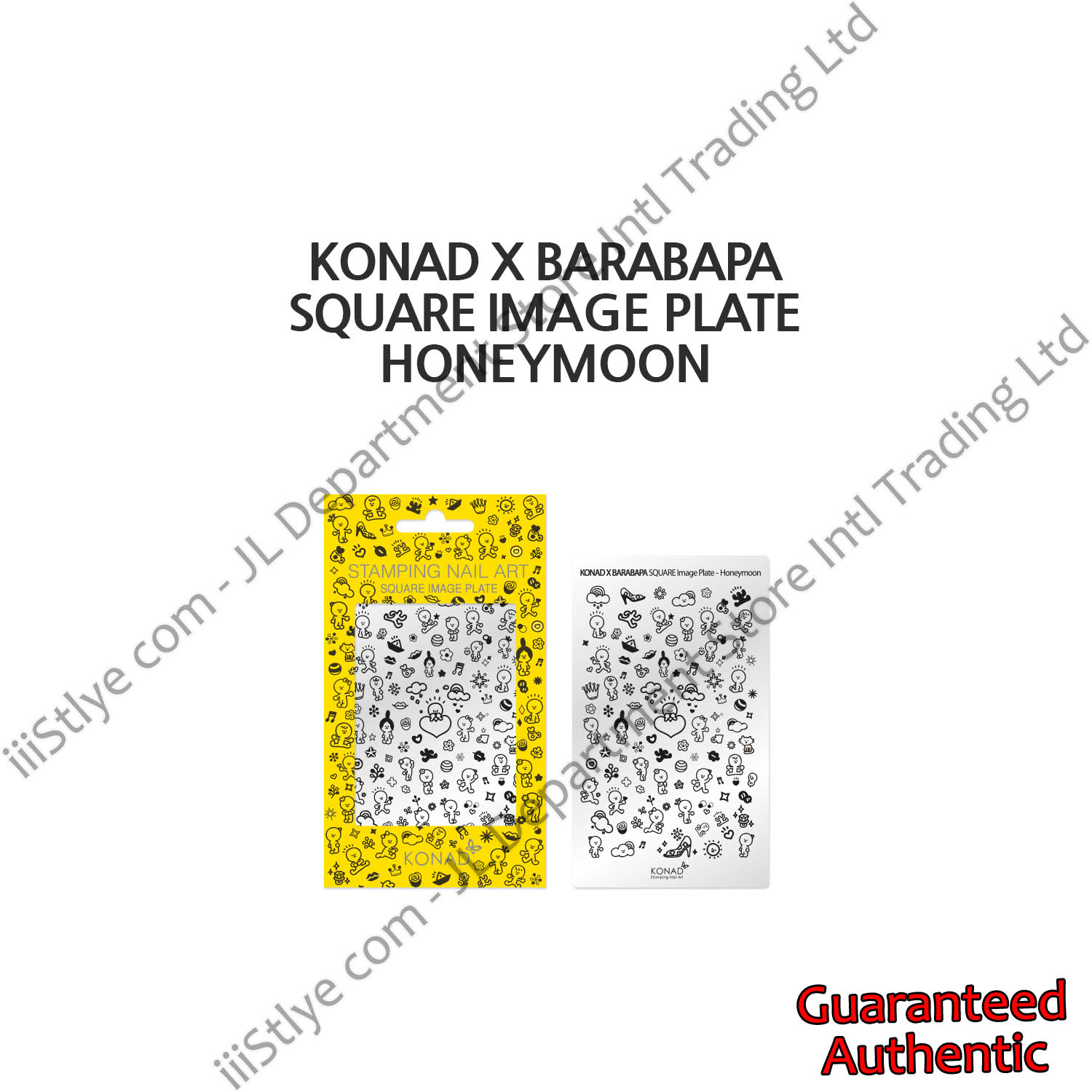 KonadXBarabapa square image plate Honeymoon